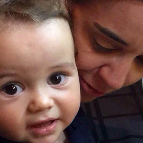 MI - Cris Monteiro e o filho Lucca